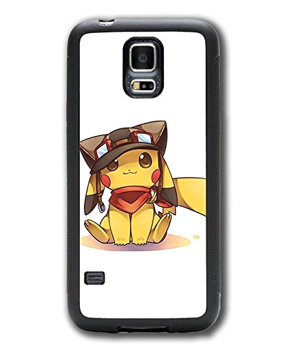 Samsung Galaxy S5 Mini Hülle Case Cover,Pokemon Pikachu Games Themes Customized Design Plastik Hardcase Muster Anti-stoß Handyhülle für Galaxy S5 Mini