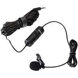 BOYA BY-M1 omnidireccional Micrófono de condensador de 20 pies Audio Cables Compatible con réflex digitales Videocámaras Cámaras de vídeo/Smartphone
