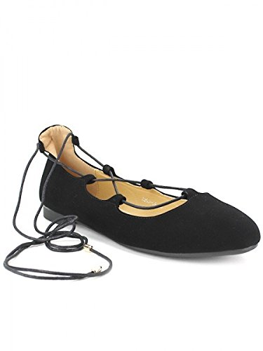 Cendriyon, Ballerine Noire Feutrine FILANA Chaussures Femme Noir