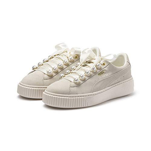 Puma Suede Platform Bling Damen Sneaker Whisper White-Whisper White 5 5 Bling