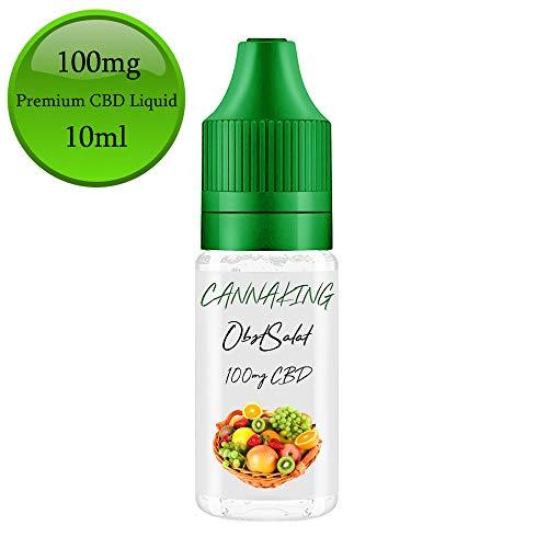 CBD Premium Liquid von Canna King 500mg 300mg 200mg 100mg 50mg Nikotionfrei (ObstSalat, 100mg)