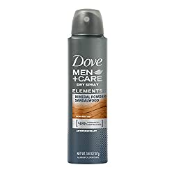 Mineral Powder + Sandalwood: Dove Men+Care Elements Antiperspirant Dry Spray, Mineral Powder + Sandalwood, 3.8 Ounce