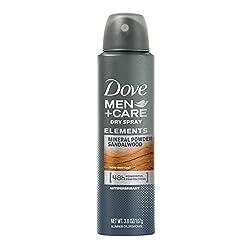 Mineral Powder + Sandalwood: Dove Men+Care Elements Antiperspirant Dry Spray, Mineral Powder + Sandalwood, 3.8 Ounce