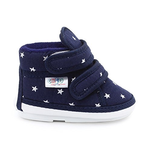 CHIU Chu-Chu Blue Shoes with Double Strap for 22-24 Months Baby Boys & Baby Girls