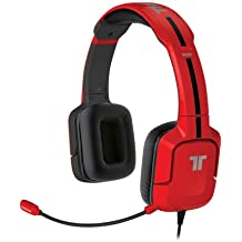 Mad Catz - Auriculares Tritton Kunai, Color Rojo (Wii U, 3DS, MP3, Smartphone)