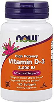 Now Foods Vitamin D-3 120 Sgels 2000 IU