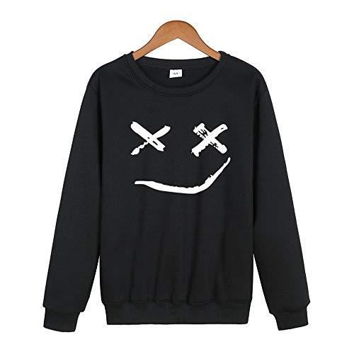 DAXIAL Sweatshirt Smiley Drucken Styling Runden Ausschnitt Kleidung Für Männer Men's Long-Sleeved Kleidung Sport Kleidung Der Männer, XXL -