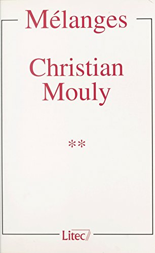 Mlanges Christian Mouly (2)