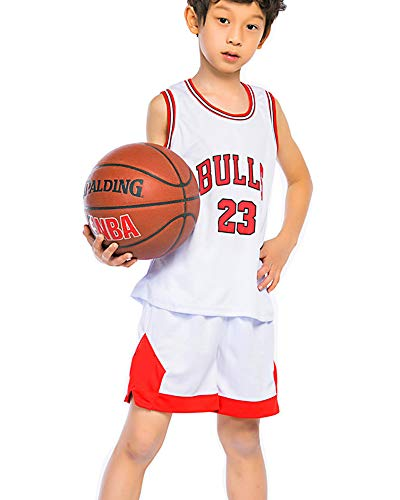 OLIS Kinder Basketball Trikots NBA Michael Jordan # 23 Chicago Bulls Retro Basketball Shorts Sommer Trikots Basketballuniform Top & Shorts Basketball Anzug