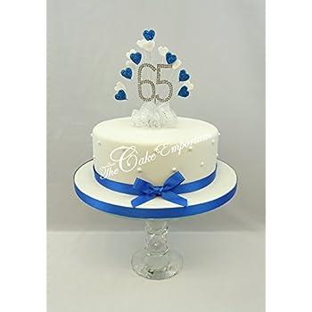 Cake decoration sapphire 65th uk wedding anniversary diamante cake decoration sapphire 65th uk wedding anniversary diamante cake topper heart junglespirit Choice Image