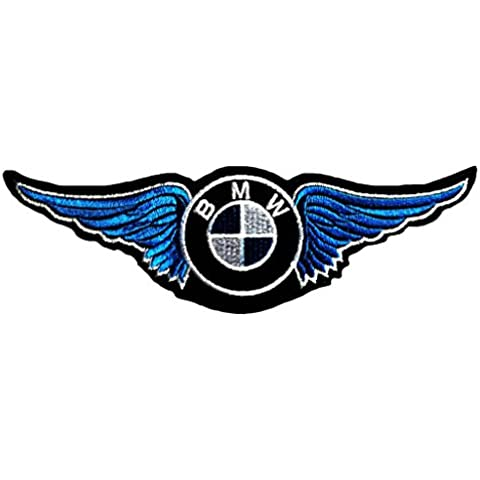 Toppe termoadesive - BMW Logo Sponsoring Auto Fans - blu Patch Toppa ricamate Applicazioni Ricamata da cucire
