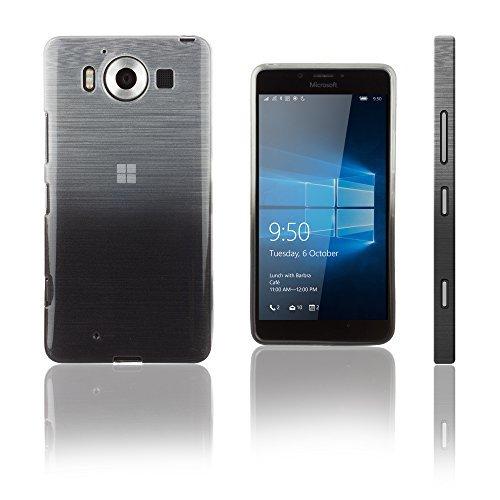 Xcessor transition custodia in tpu con filo di seta gradiente texture per microsoft lumia 950-trasparente/oro