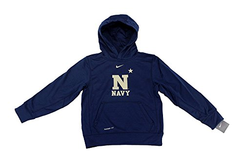 Nike NCAA Jungen Marineakademie Navy Therma Fit Hoodie, klein