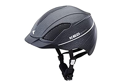 KED Allegra Reithelm Dressurhelm und Springreiterhelm Black Matt Leather, Größe L (57-63cm) - Top-Ausstattung und Hoher Tragekomfort mit maximaler Sicherheit - Made in Germany