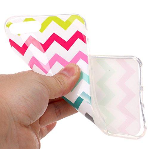 iPhone 7 Plus Hülle, Apple iPhone 7 Plus Hülle, Gift_Source [ Batman ] Schutz-Hülle Silikon TPU transparent ultra-slim Case Cover ultra-thin durchsichtig für Apple iPhone 7 Plus 5.5 inch E1-Farbwellen