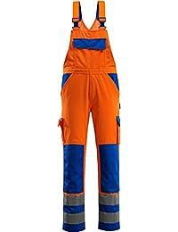 "Mascot Latzhose ""Barras"", 1 Stück, L82cm/C64, orange/kornblau, 07169-860-1411-82C64"