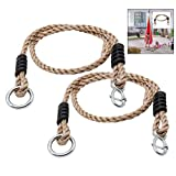 LHKJ 2Pcs Cuerdas para Columpio Hamaca Cuerdas Flexibles Ajustables para Columpio de árbol Columpio, Silla, Columpio Colgante, Fácil de Instalar