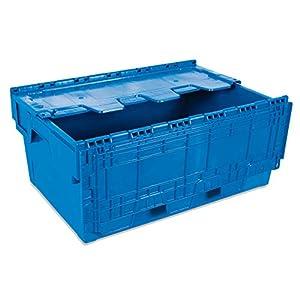 Tayg 6424-T Euro-caja con tapa para almacén y transporte, 600 X 400 X 240 mm