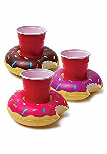 Aufblasbare Getränkehalter Donuts - 3er Set