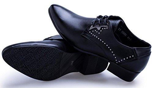 HYLM I pattini di cuoio dei pattini di affari degli uomini di I pattini di cerimonia nuziale del locale notturno fanno i pattini degli uomini black