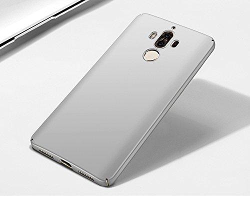 Huawei Mate 9 Hülle,EinsAcc PC UltraThin Hart Hülle für Huawei Mate 9 (rosegold) silber