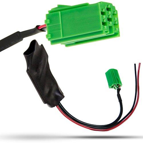 Adapter-Universe Bluetooth AUX IN Adapter Kabel Verstärker + Störgeräuschfilter 6pol Renault Carminat Radio