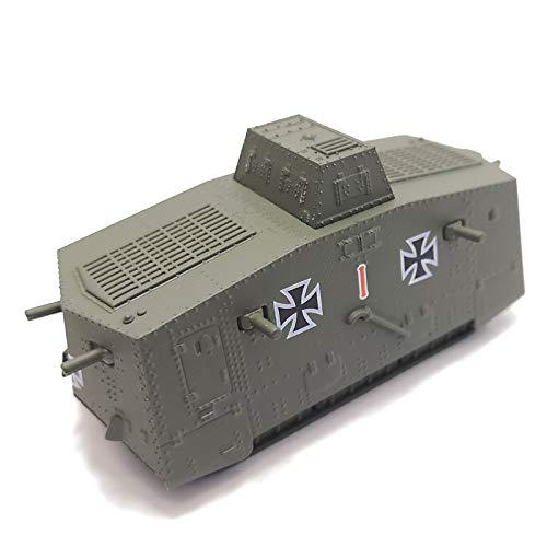 YWJHY Army Hauptkampf Deutschland A7V Panzer Maßstab Militär 1: 100 Legierung Kunststoff Modell,Als anzeigen,Einheitsgröße