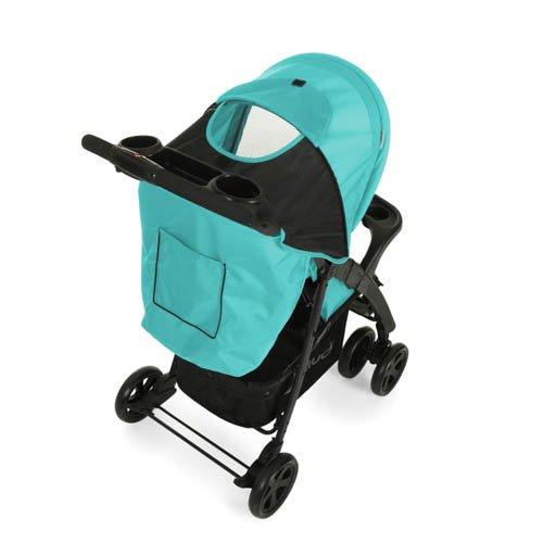 Hauck Buggy Shopper Neo II, mit Liegefunktion, klein zusammenfaltbar, für Kinder ab 6 Monate bis 22 kg, schwarz blau (Caviar Aqua)