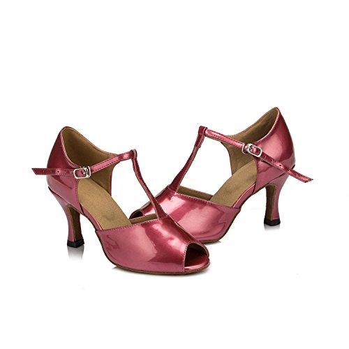 Minitoo femme coloré en cuir PU de Mariage Soirée danse-Chaussures Sandales-Latine Violet