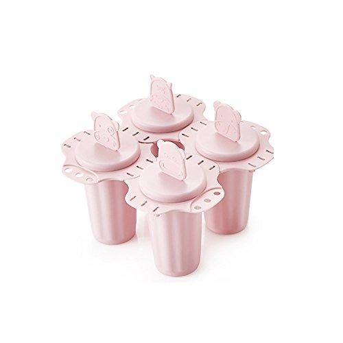TONVER Eis Form Kreativ DIY Kombination Popsicle Cute Little Bear Frozen Popsicle Eis Schöpfern Ice Cube Modell Werkzeug, Pink, Polypropylen, rose, 10*7*3CM