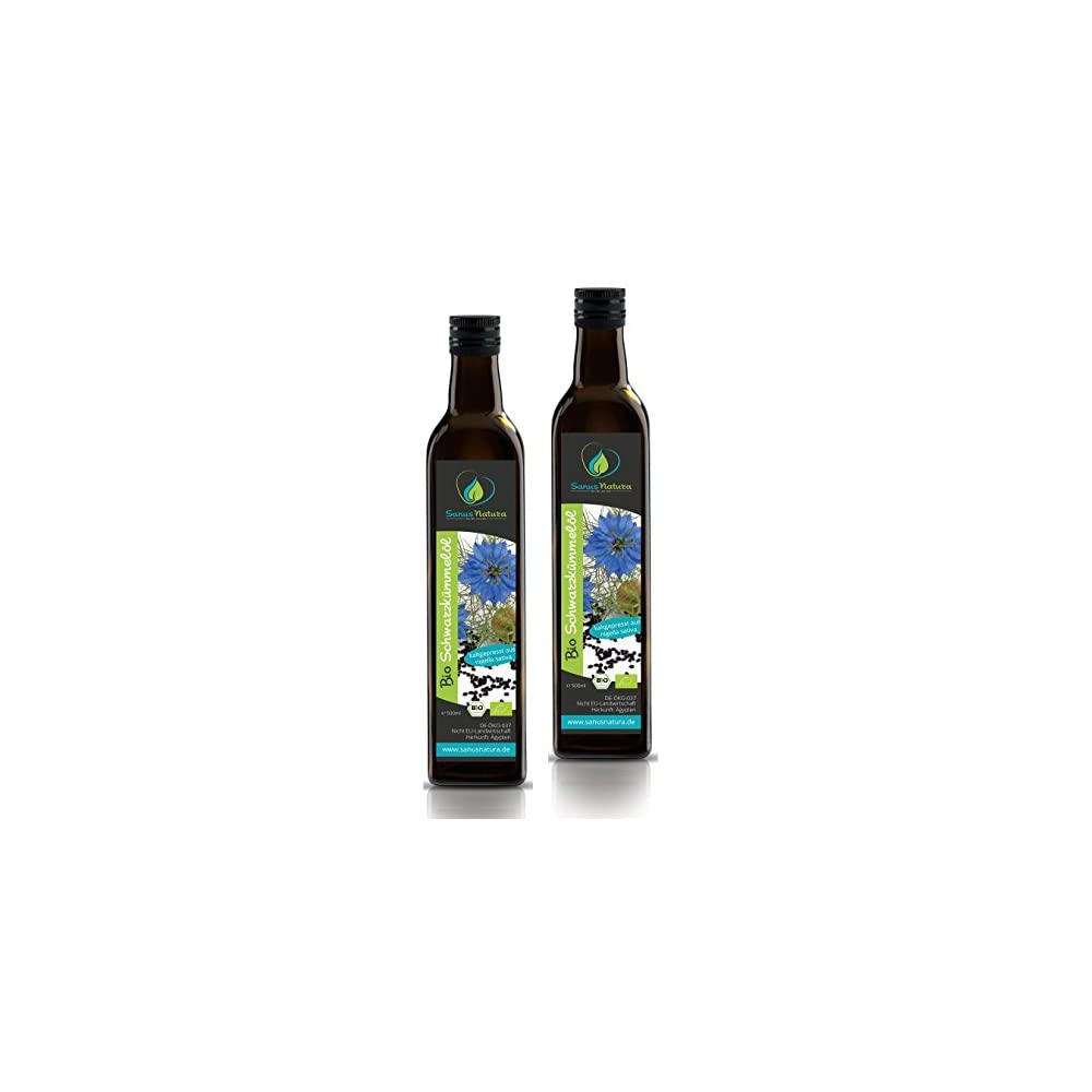 Sanus Natura Bio Schwarzkmmell 1000ml Glasflasche