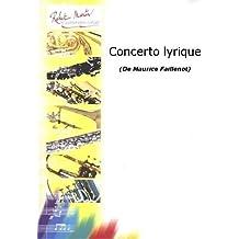 Partitions classique ROBERT MARTIN FAILLENOT M. - CONCERTO LYRIQUE Tuba