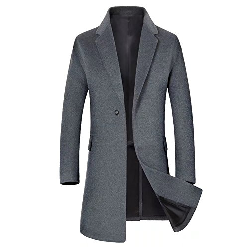 Herren Mantel Wollmantel Winter Wolle Business Windbreaker Schlank Lange Männer Jacken Mens Trenchcoat Slim Fit Pea Coat Pea Coat Trenchcoat