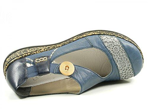 Rieker 46324, Ballerine Donna Blu (Azur/jeans / 13)