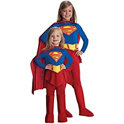 Disfraz Supergirl niña - Único, 3 a 5 años