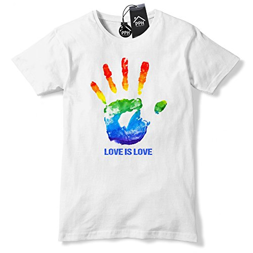 Hand Print Love is Love LGBT Gay Pride T Shirt