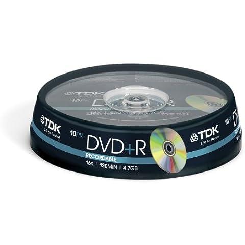 TDK 10 x DVD+R 4.7 GB - Pack 10 Dvd+R 4,7 GB