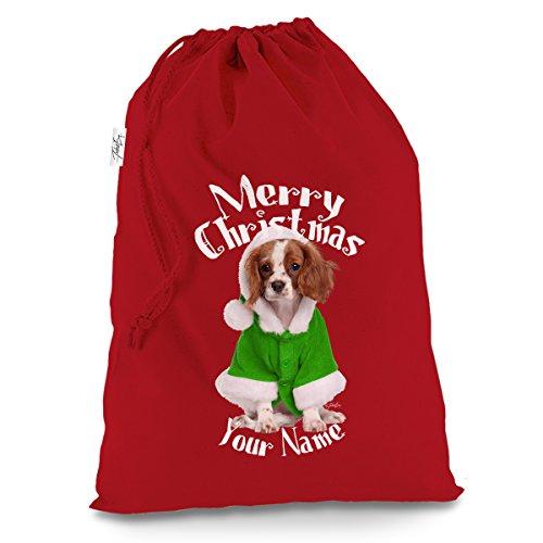 personalisierbar Spaniel Wearing Santa Kostüm groß rot Weihnachtsgeschenk Santa Sack Mail Post (North Pole Elf Kostüm)