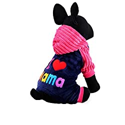 erthome Pet Dog Warm Puppy Cat Shirt Winter Sweater Costume Jacket Coat Apparel
