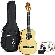 Guitarra Española Deluxe Junior de 1/2 de Gear4music + Accesorios Natural