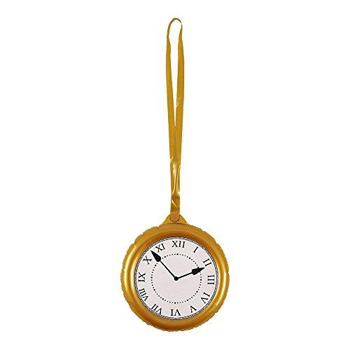 Jumbo país de las maravillas conejo dorado reloj de bolsillo reloj Fiesta Hinchable Accesorios Decoración