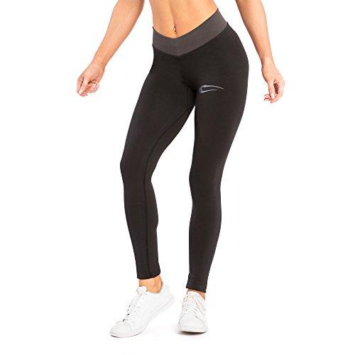 SMILODOX High Waist Leggings Damen 'Offset' | Figurformende Leggings für Sport Fitness Gym Yoga Training & Freizeit | Sporthose - Workout...