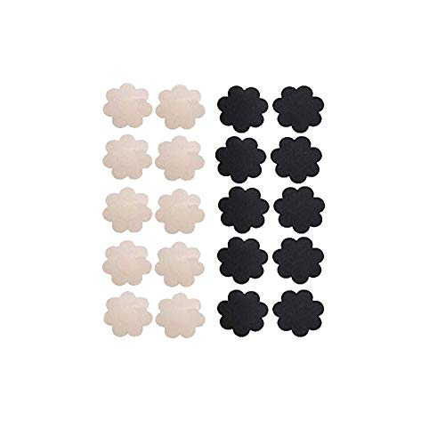 9be7d526d WODISON Pasties Womens Nipple Covers Adhesive Breast Petals Disposable  Stain Multi Design (10 Pairs)