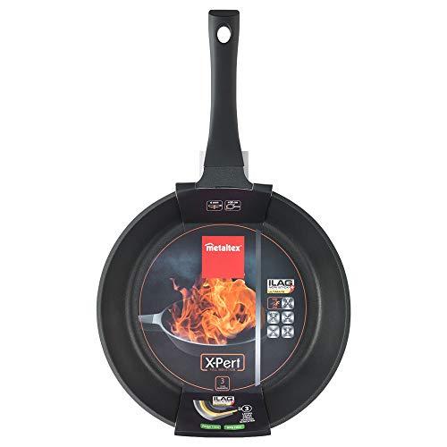 Metaltex poêle anti-adhésive Aluminium, Induction, Convient Pour Tout Type de cuisines XPERT 30 cm Noir