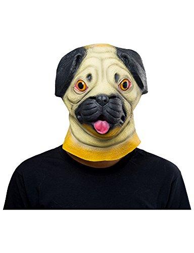 Pei Kostüm Shar - Shar Pei Latex Maske Karneval Hund Kostüm Cosplay Gelb