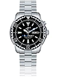 Chris Benz DEEP 1000M SHARKPROJECT EDITION CB-1000-SP-MB Automatic Mens Watch Diving Watch