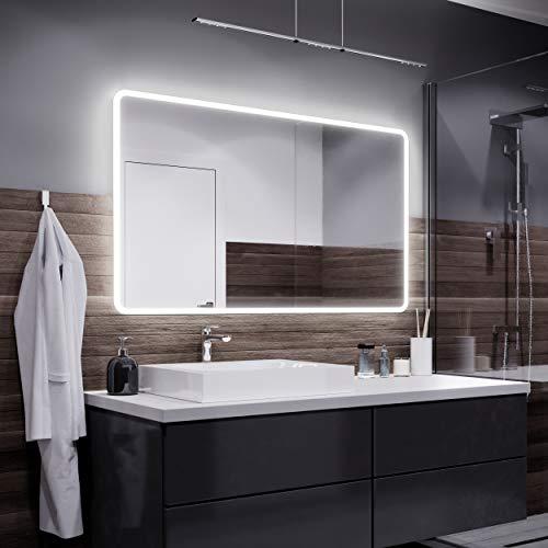 Espejos con Luz - 100x90cm - Diferentes tamaños - Espejo de Baño con Iluminación LED - Modelo Osaka...