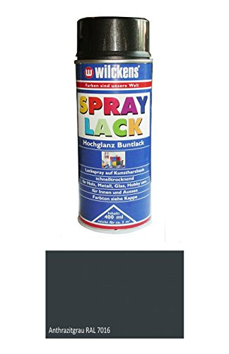 Wilckens 400 ml Spray Buntlack Anthrazitgrau RAL 7016 Hochglanz, Kunstharzbasis