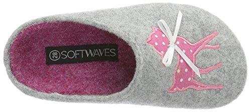 Softwaves Mädchen Hausschuh Pantoffeln Grau (200 GREY)