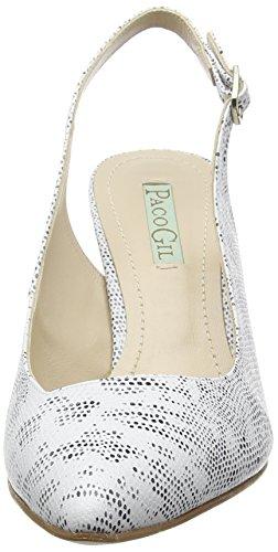 Paco Gil P3012, Escarpins femme Blanc - Blanc